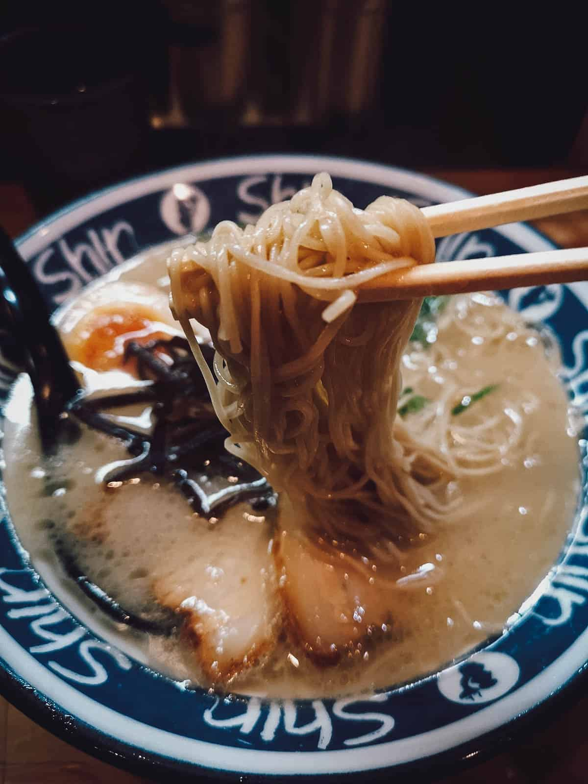 Bowl of Hakata or tonkotsu ramen