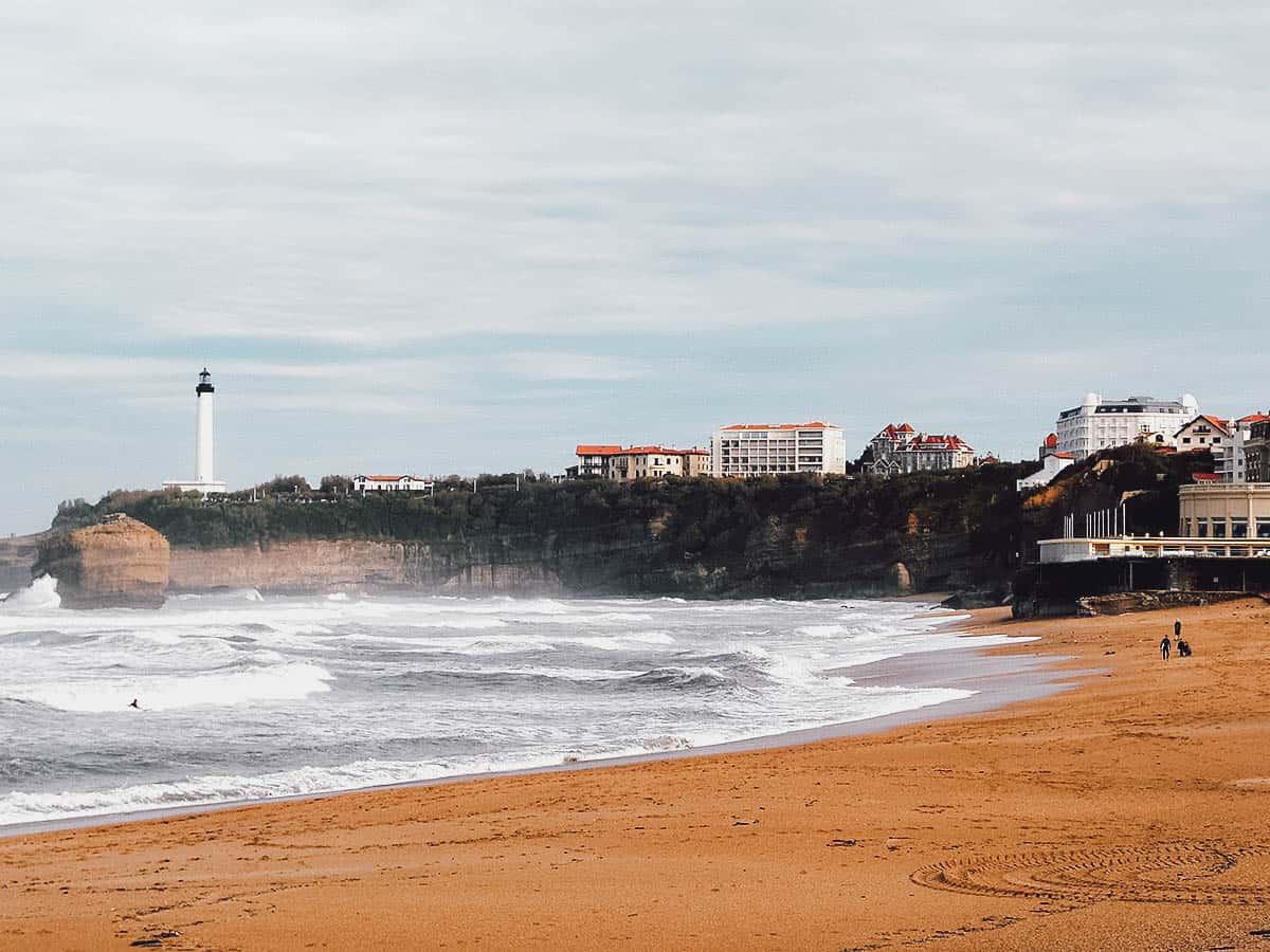 Beach in Biarritz