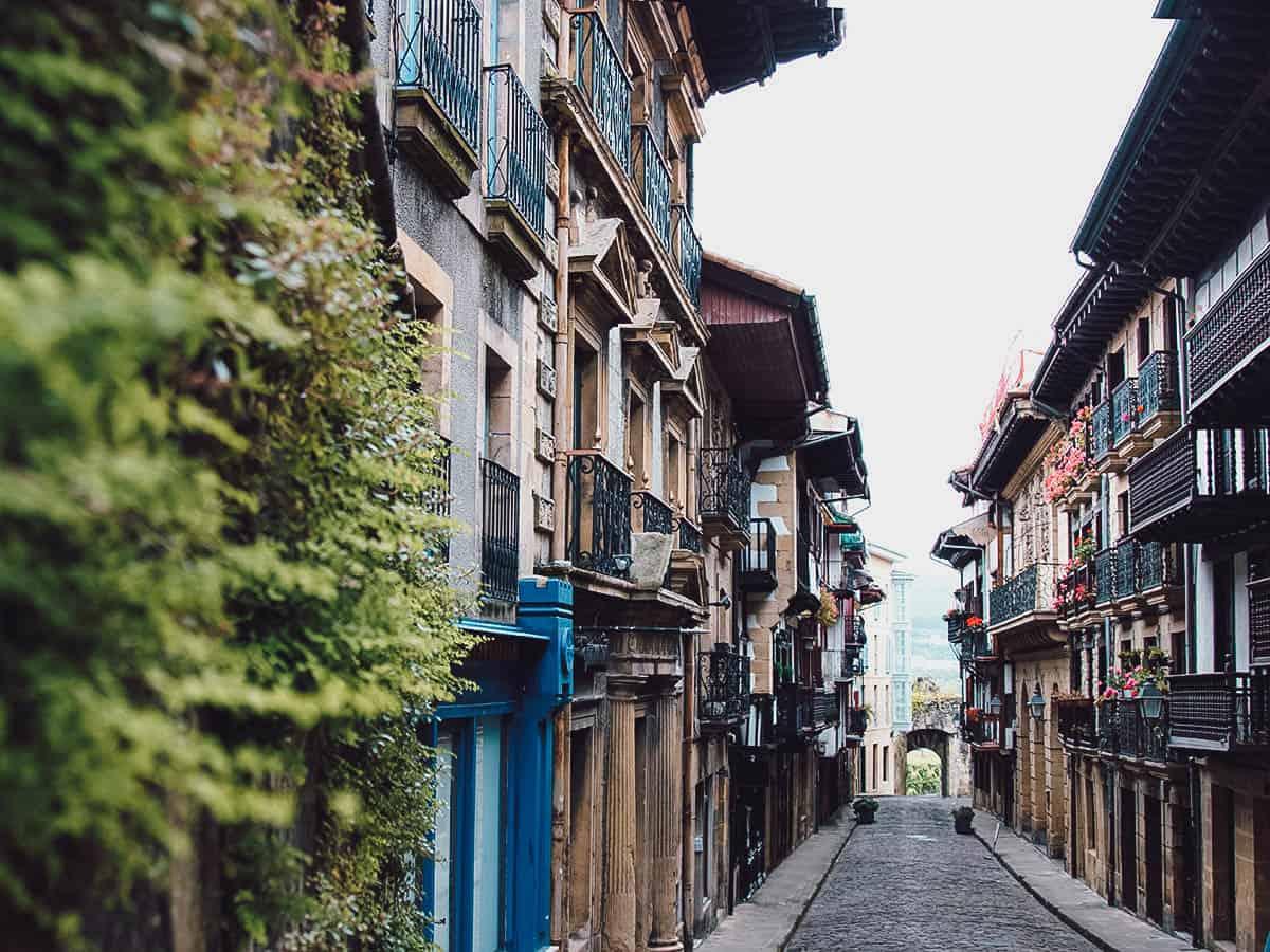 Street in Hondarribia
