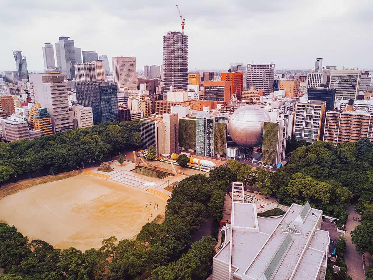 Aerial view of Nagoya City Science Museum