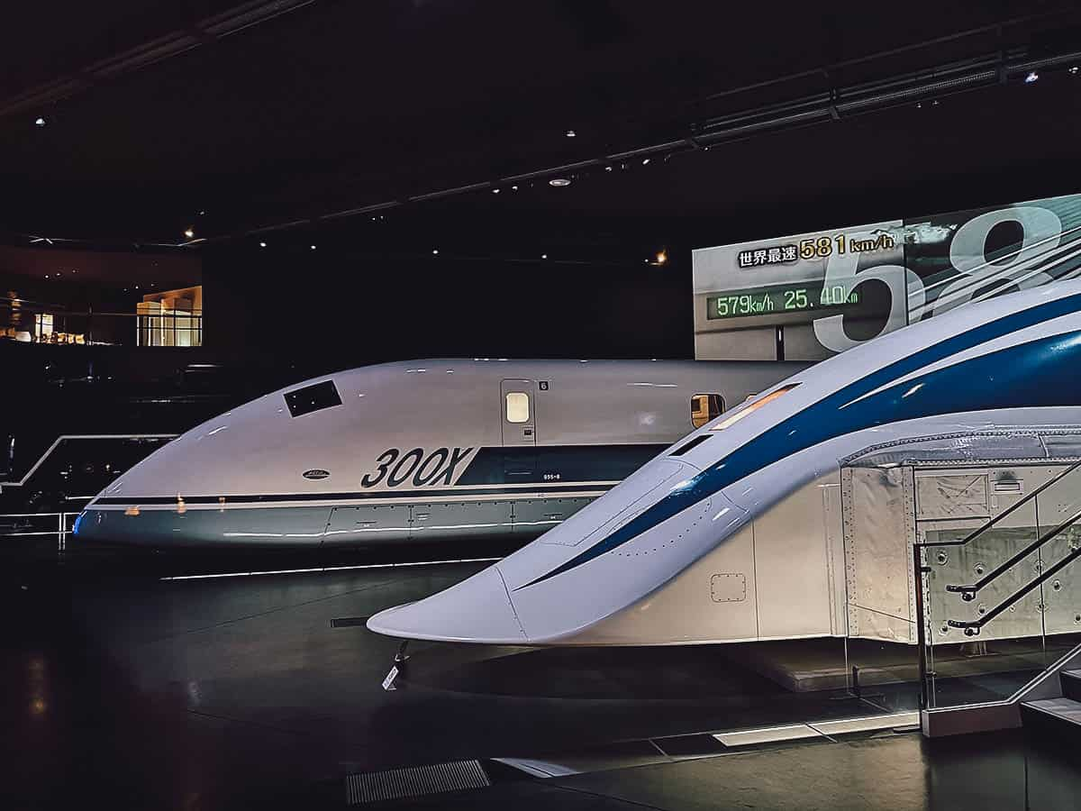 Train exhibit at SCMAGLEV and Railway Park