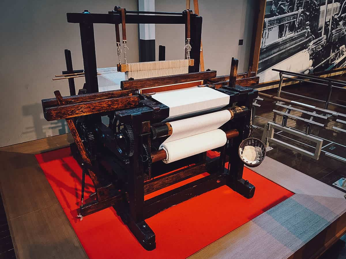 Early model of an automatic loom