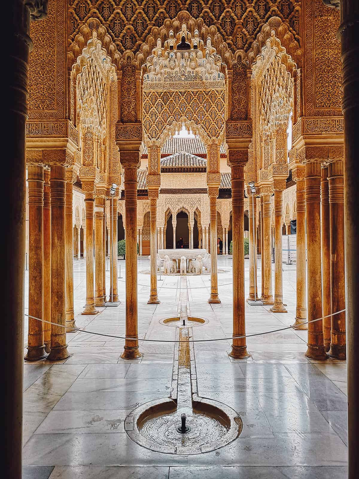 Nasrid Palaces in Granada, Spain