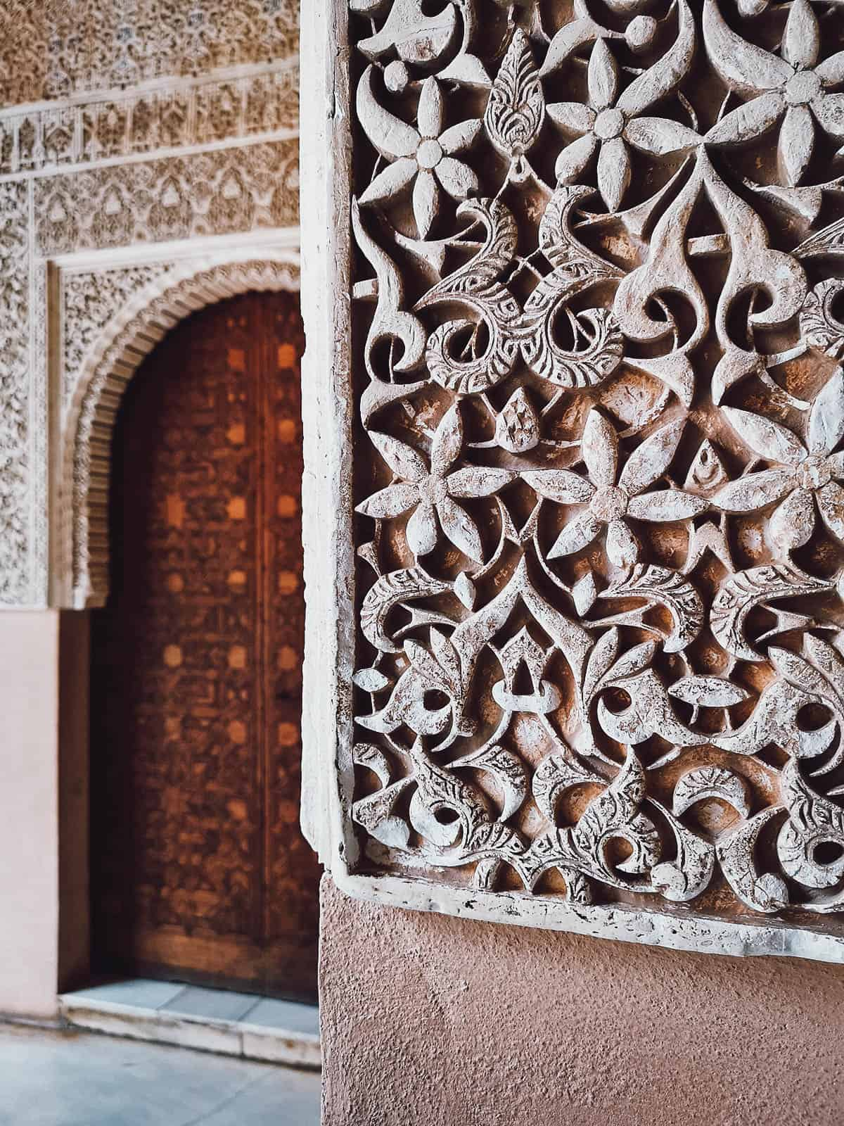 Intricate carvings at Nasrid Palaces