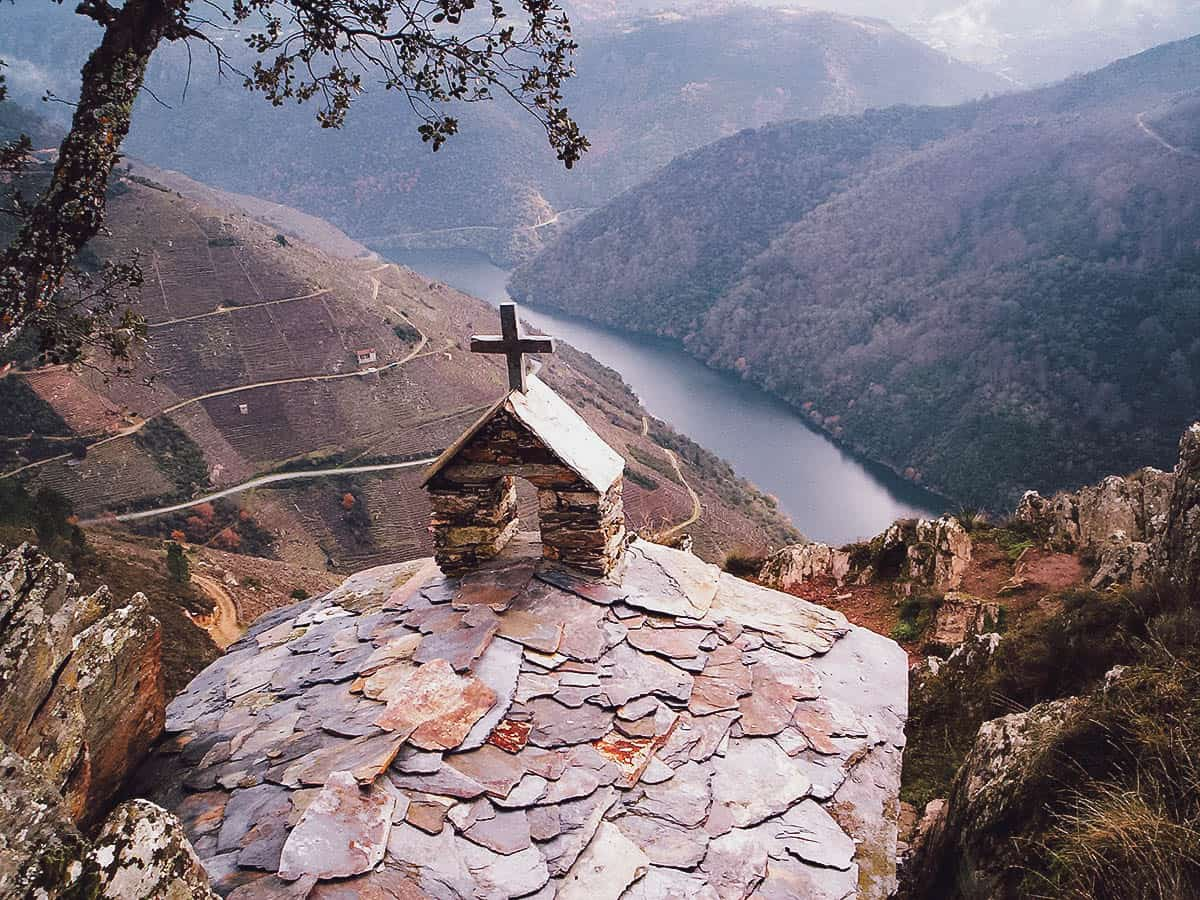 Valleys and river in Ribeira Sacra
