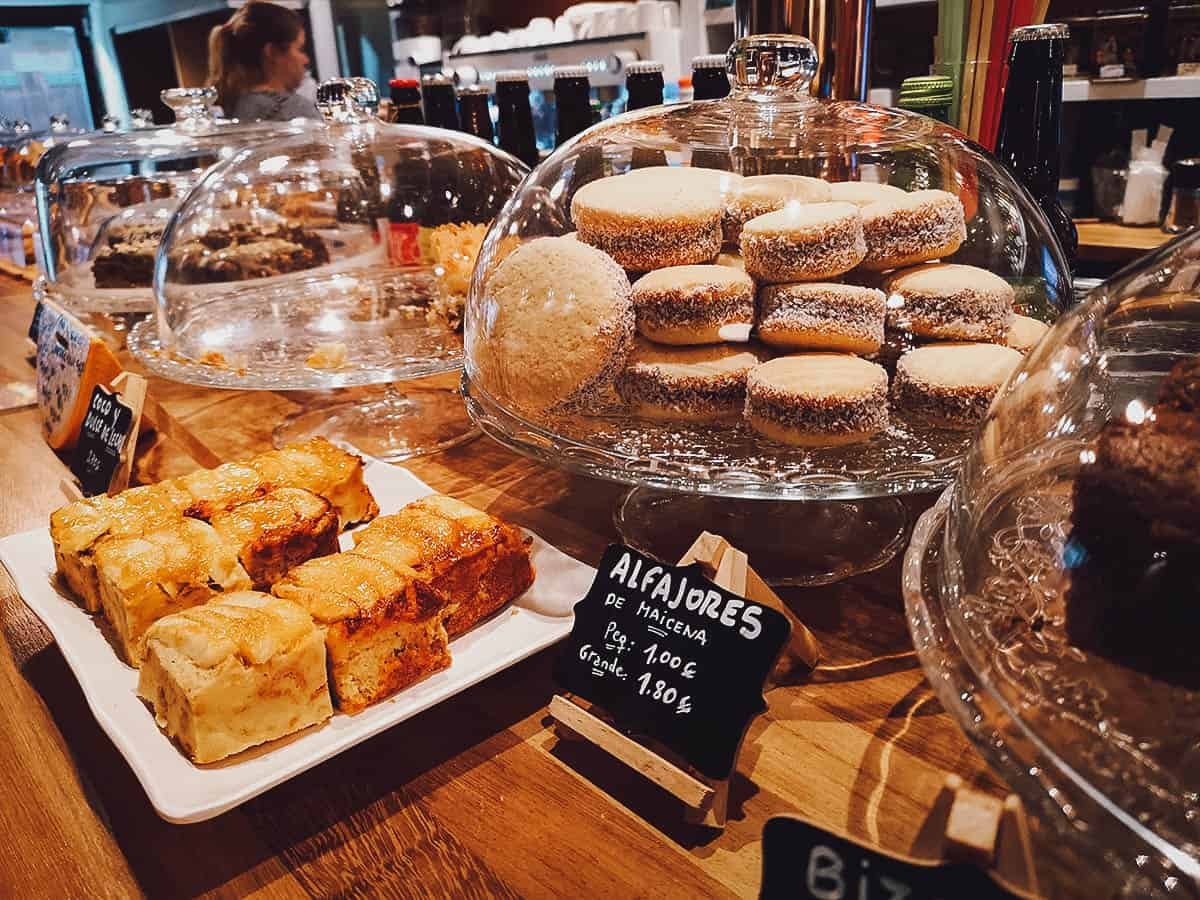 Pastries on counter