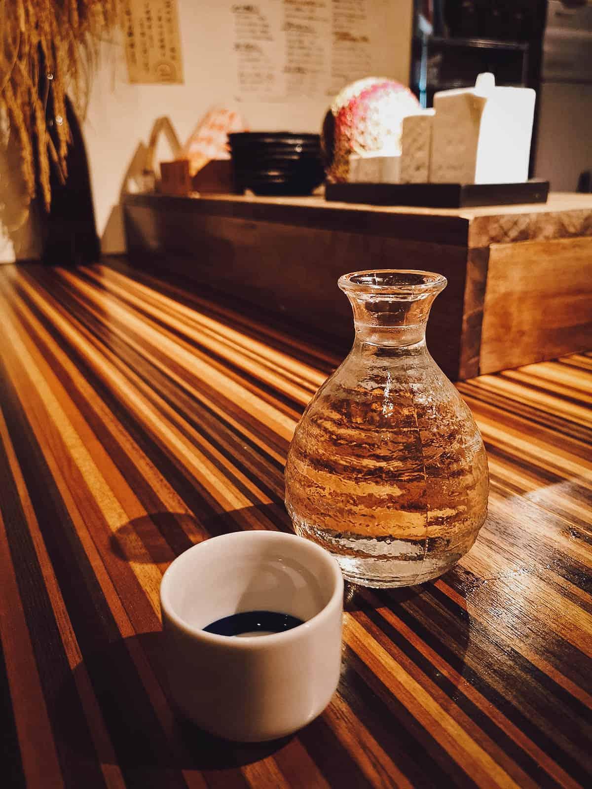 Vial of sake