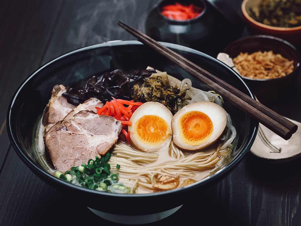 Bowl of Hakata ramen