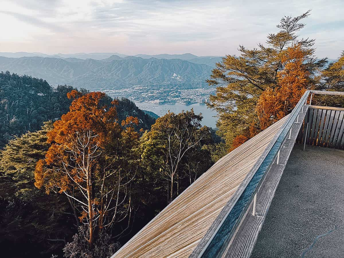 View from the summit of Mt. Misen
