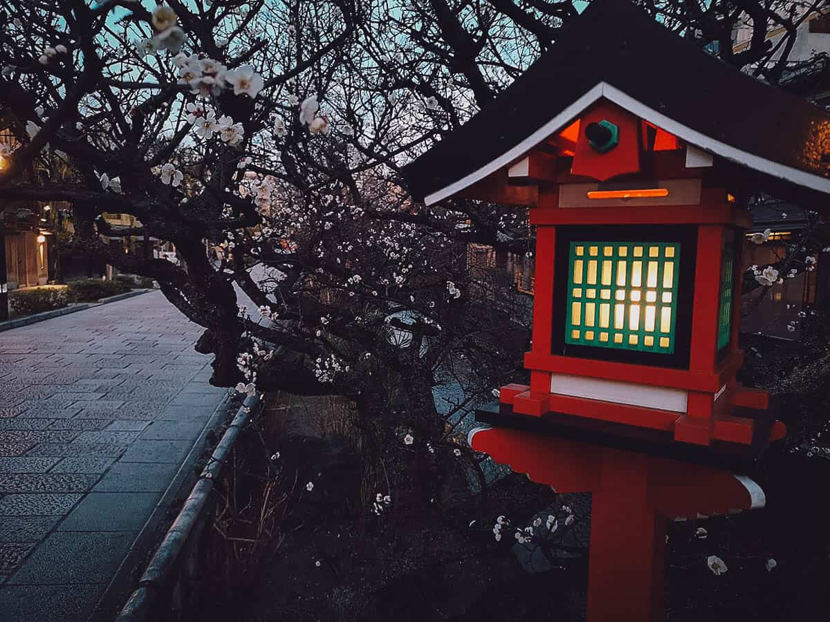 Lantern in the Gion district