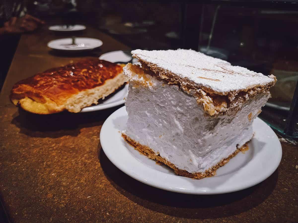 Cream cake and pastry