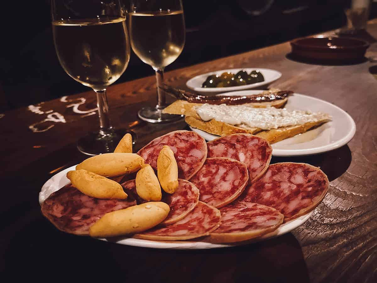 Charcuterie and tapas