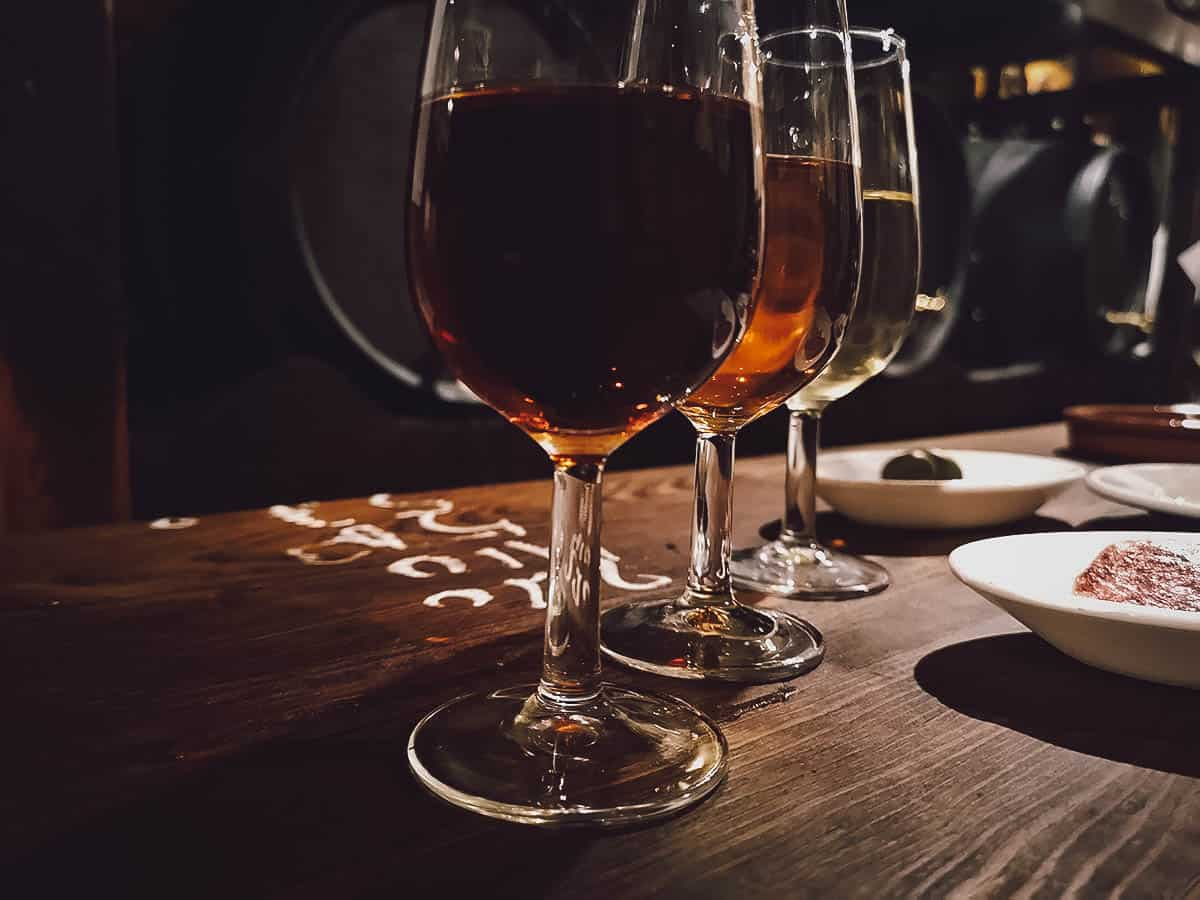 Glasses of sherry