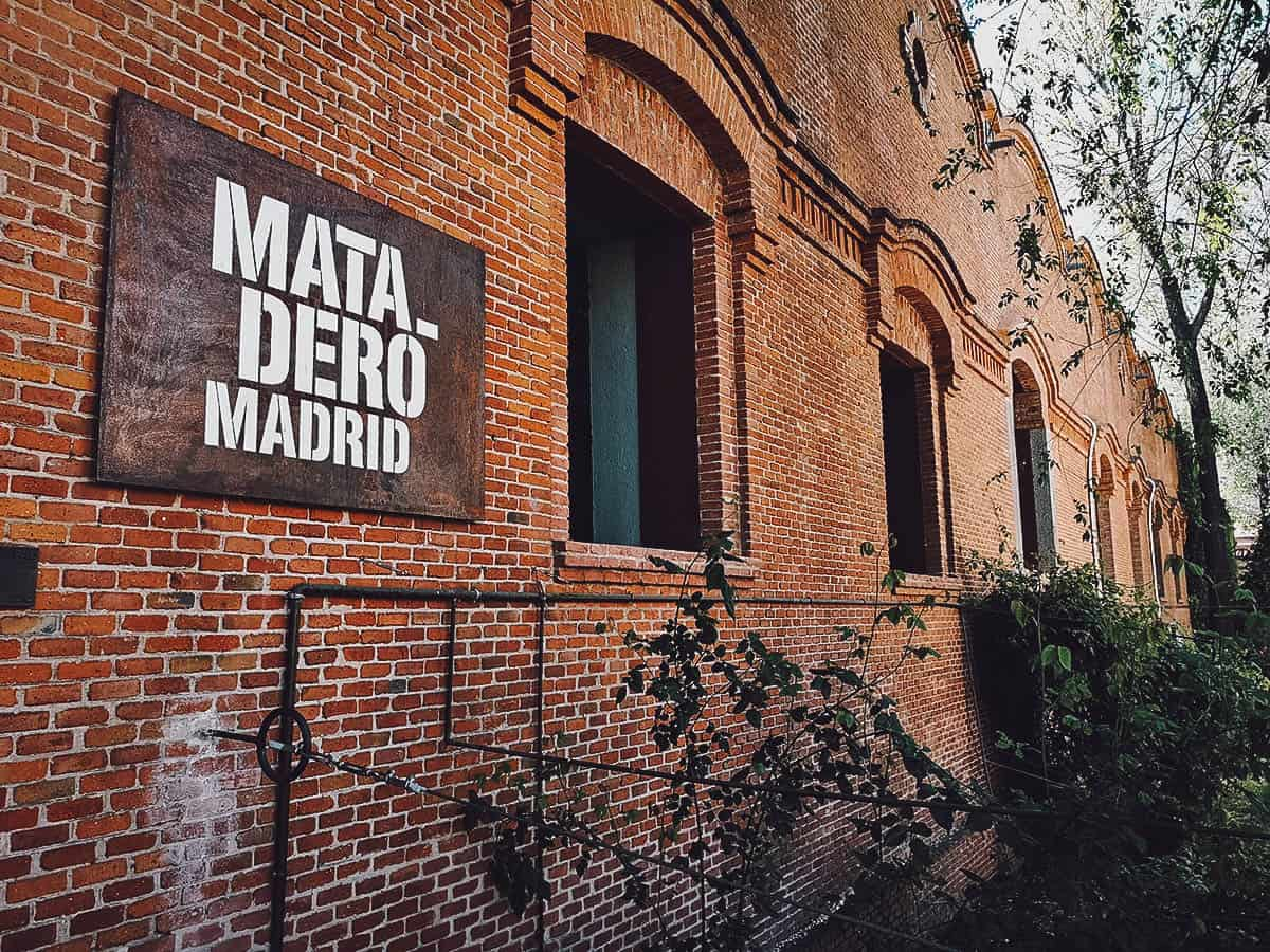 Matadero Madrid sign