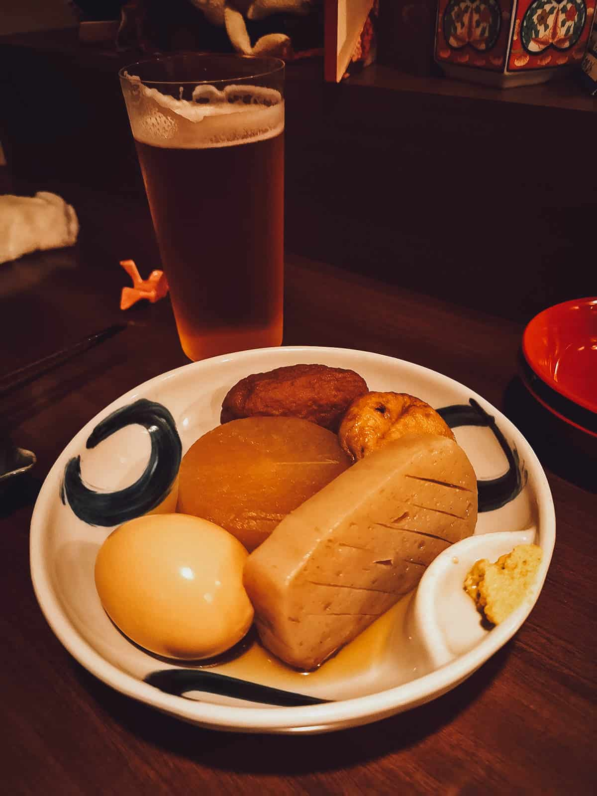 Oden, a popular Japanese izakaya bar food