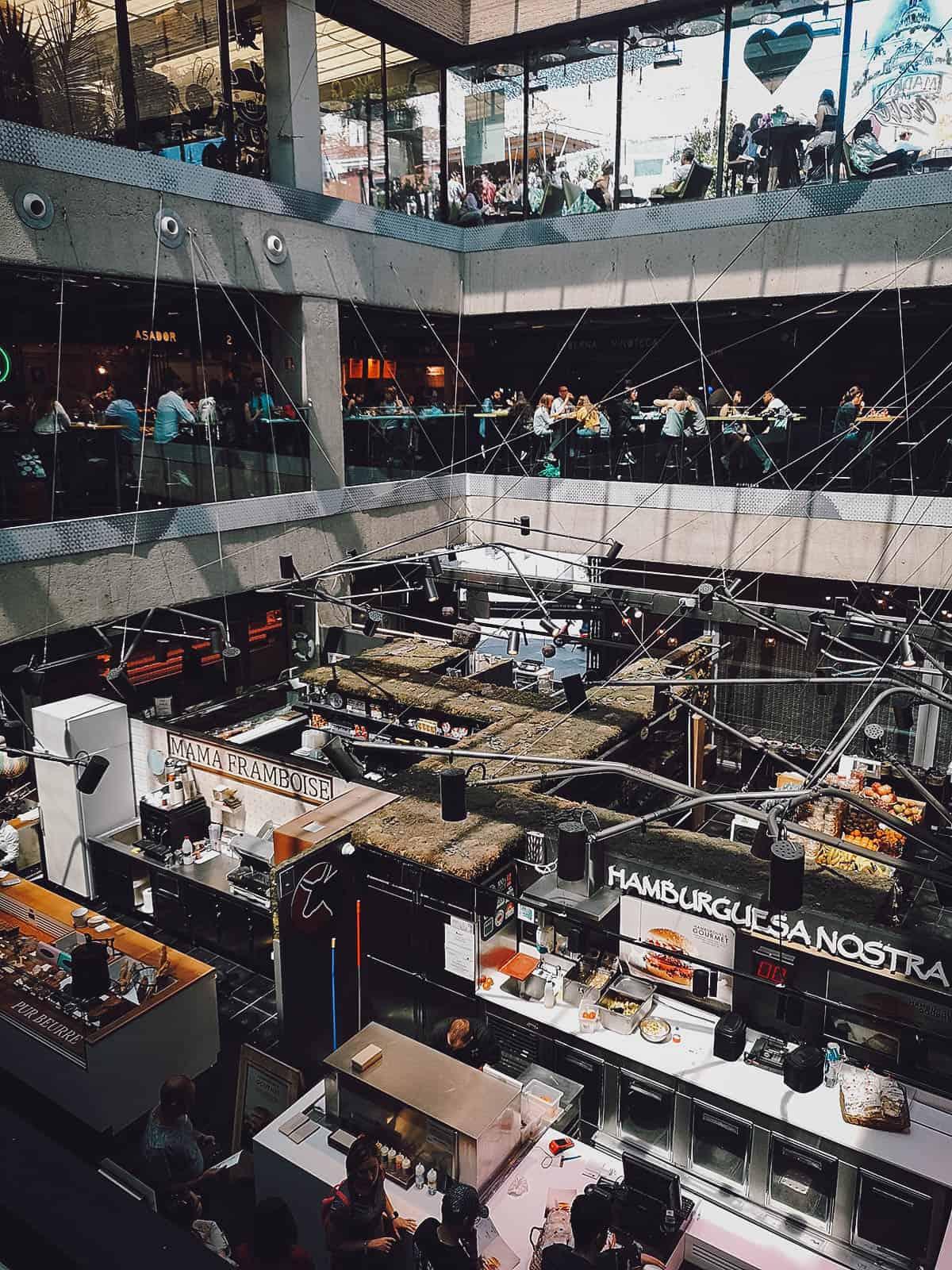 Inside Mercado de San Anton