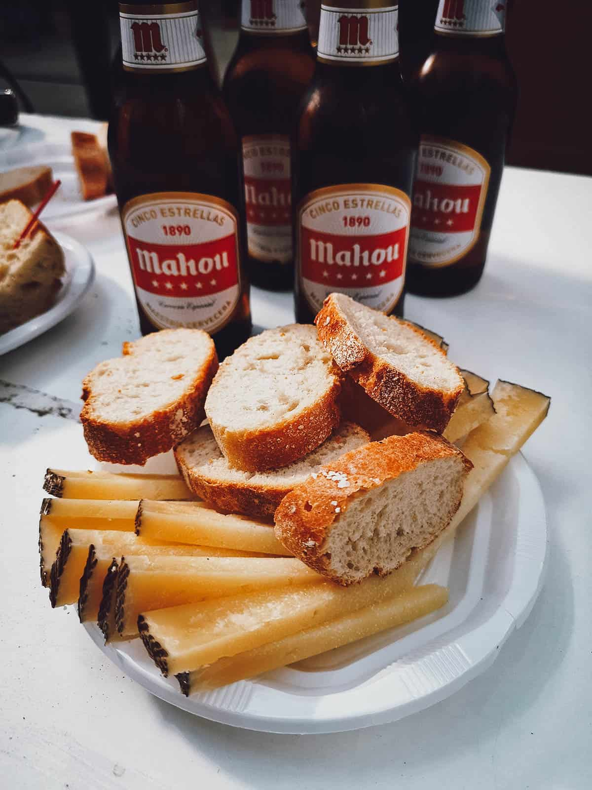 Cheese, bread, and beer