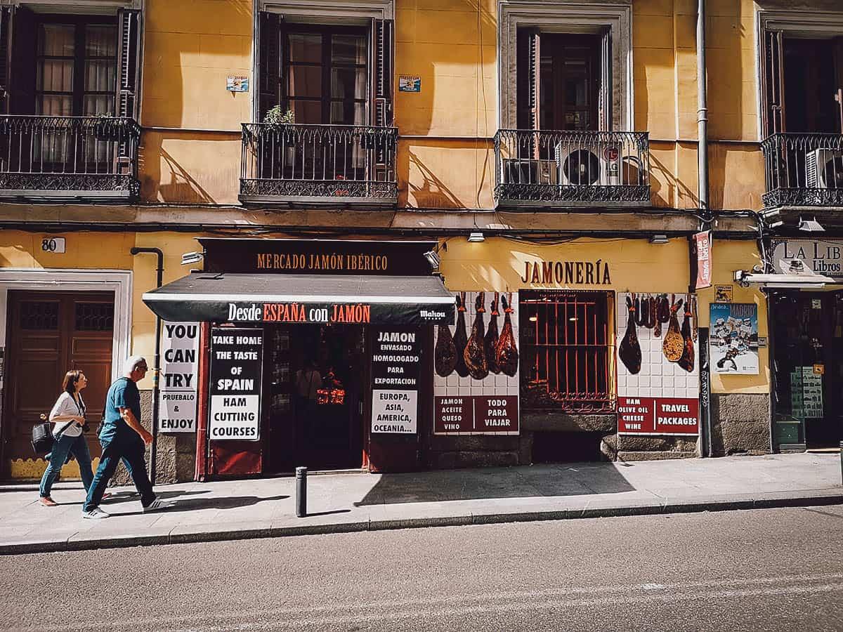 Mercado Jamon Iberico exterior