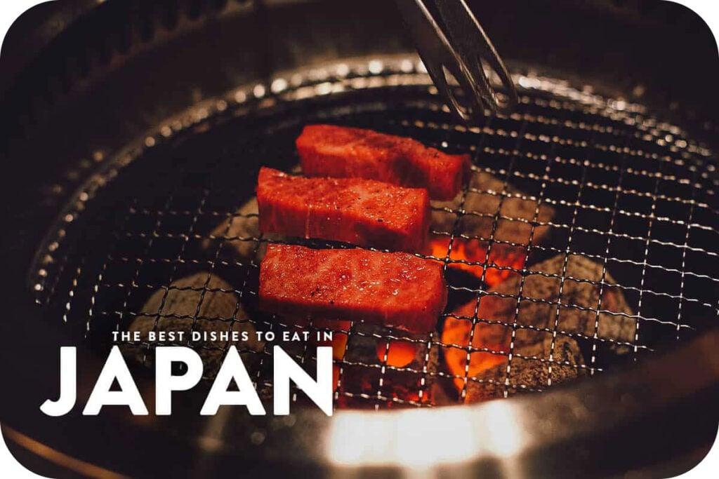 Grilling wagyu in Osaka, Japan