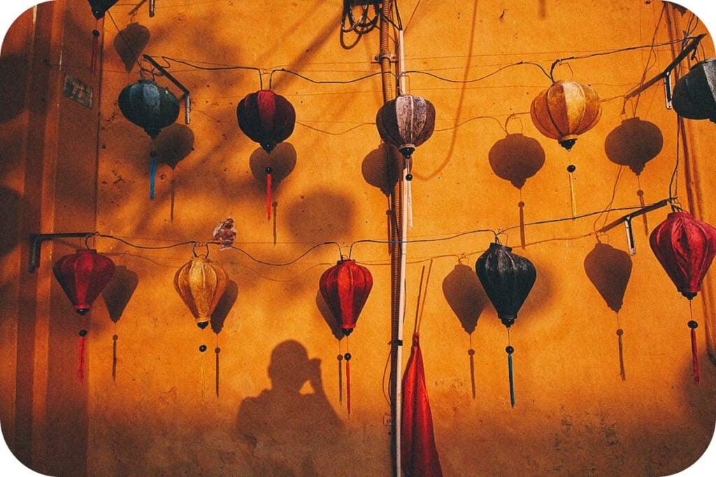 Hanging paper lanterns in Hoi An, Vietnam