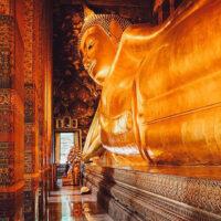 Reclining Buddha at Wat Pho in Bangkok, Thailand