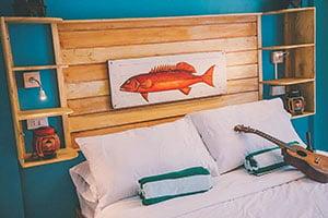 Room at Flotsam & Jetsam in San Juan, La Union, Philippines