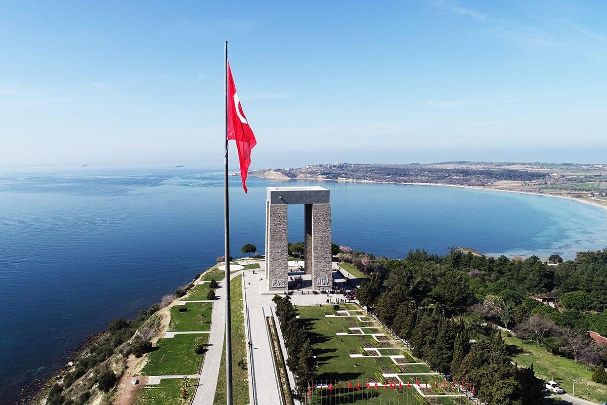 Canakkale Martyrs' Memorial in Turkey