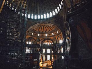 Inside Hagia Sophia in Istanbul, Turkey