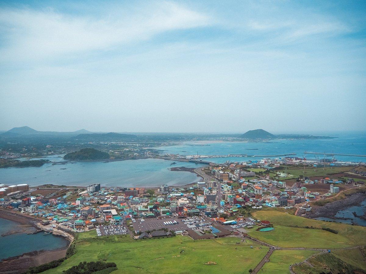 Aerial view of Jeju Island
