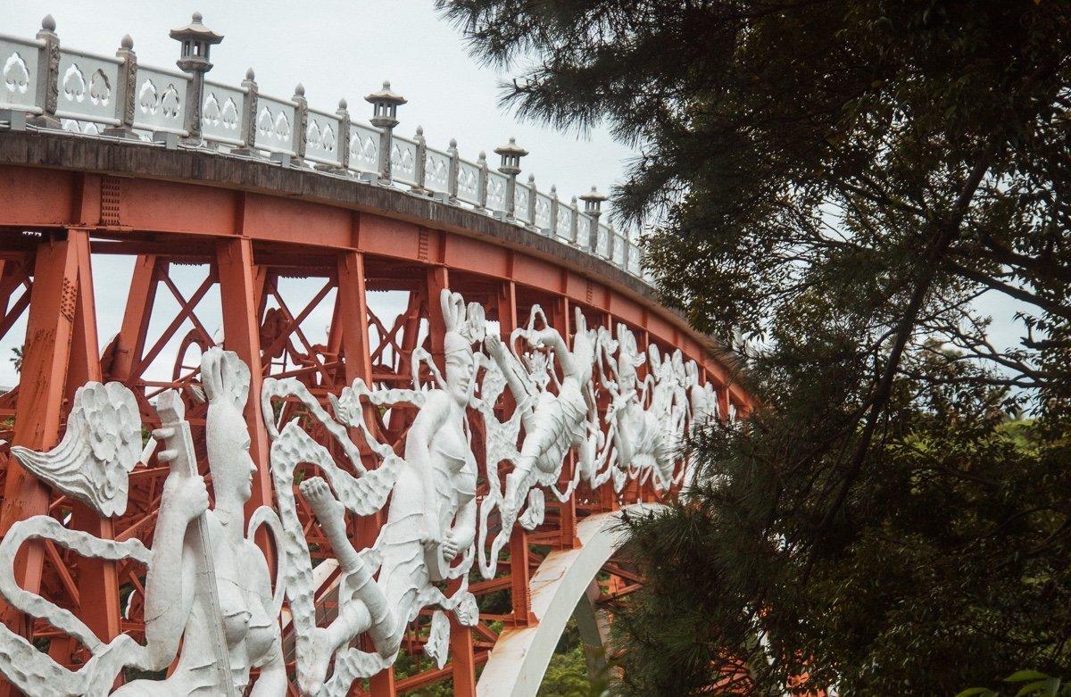 Bridge at Cheonjeyeon Falls