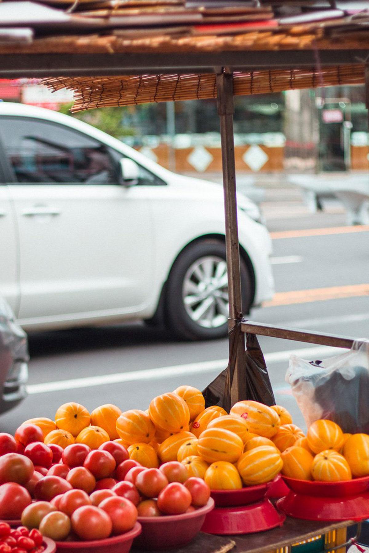Hallabong fruit stand