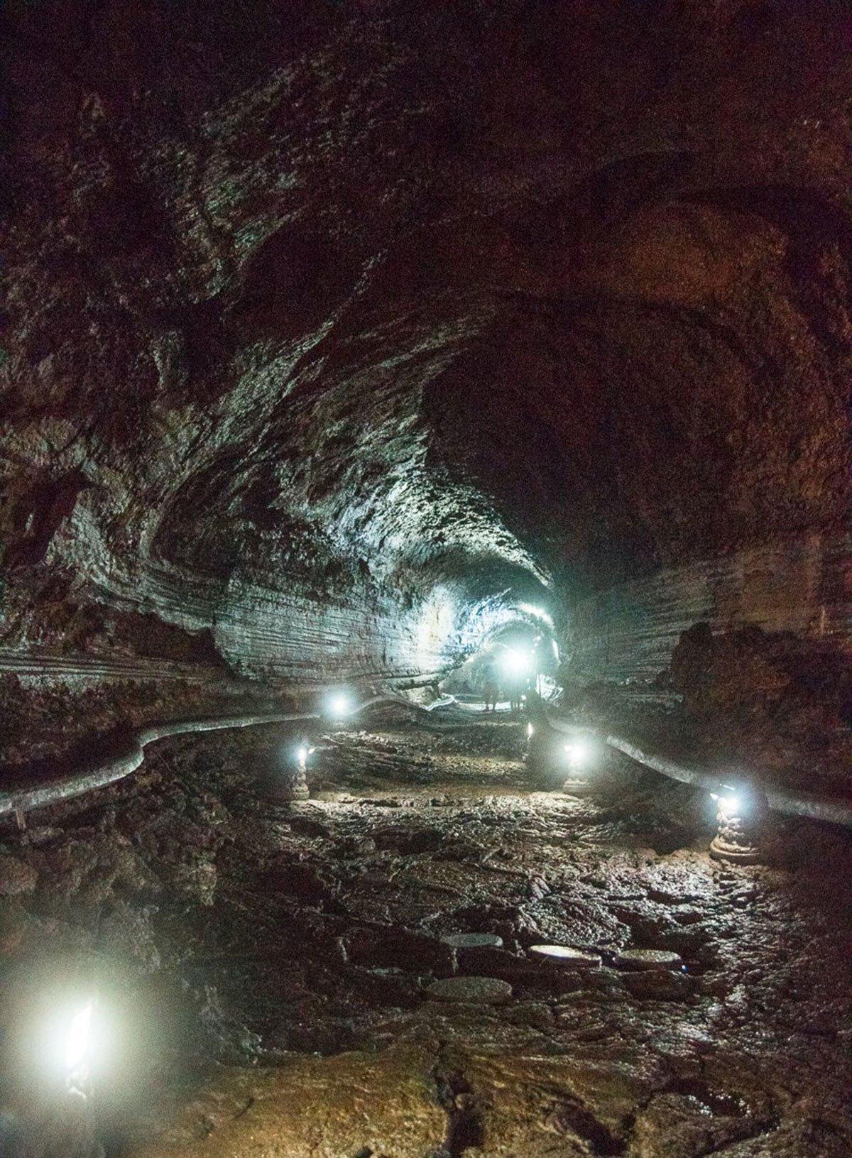 Inside Manjanggul Lava Tube
