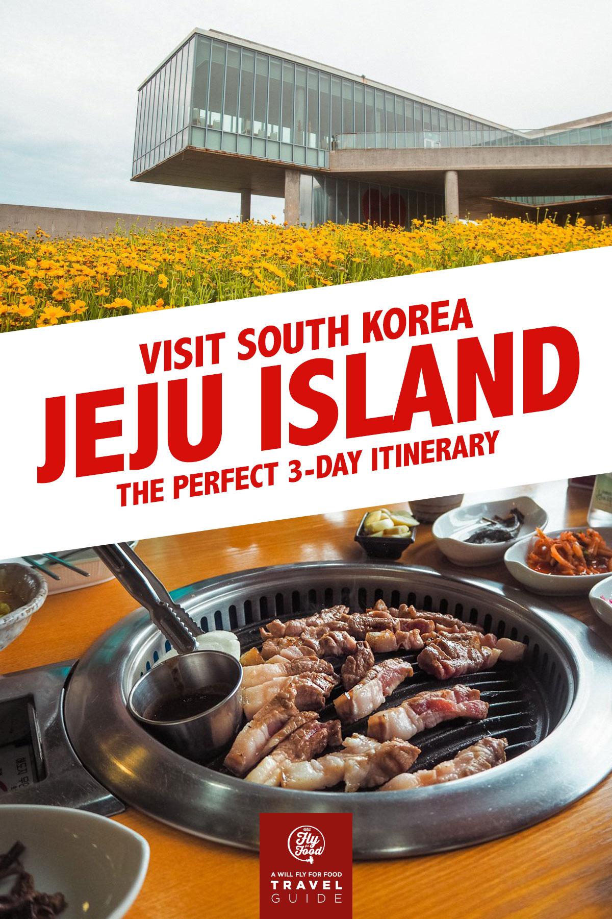 Seopjikoji and black pork on Jeju Island