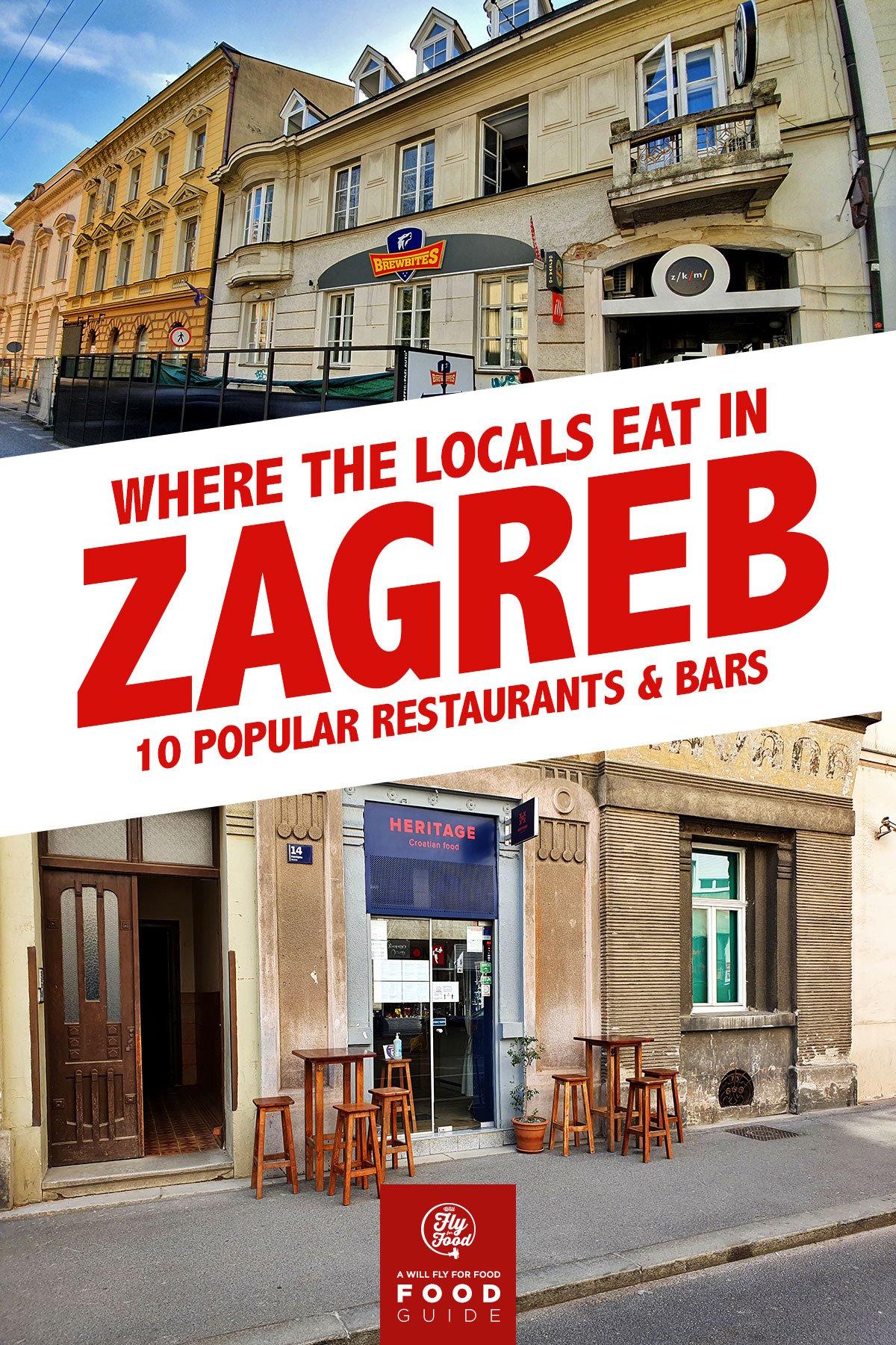 Restaurants in Zagreb, Croatia