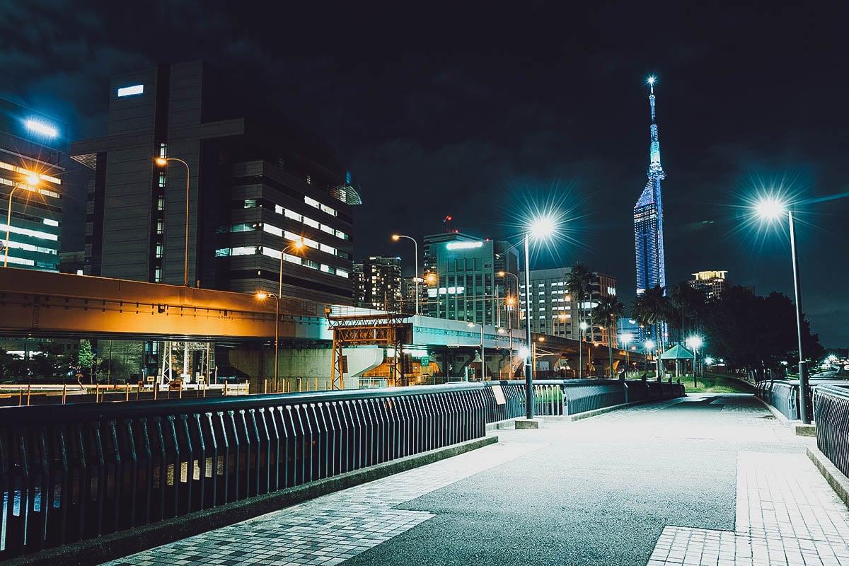 Night view of Fukuoka Tower