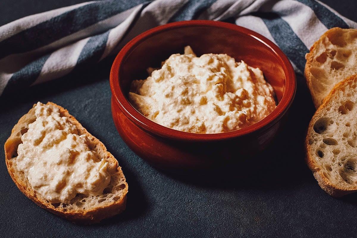 Kajmak with bread