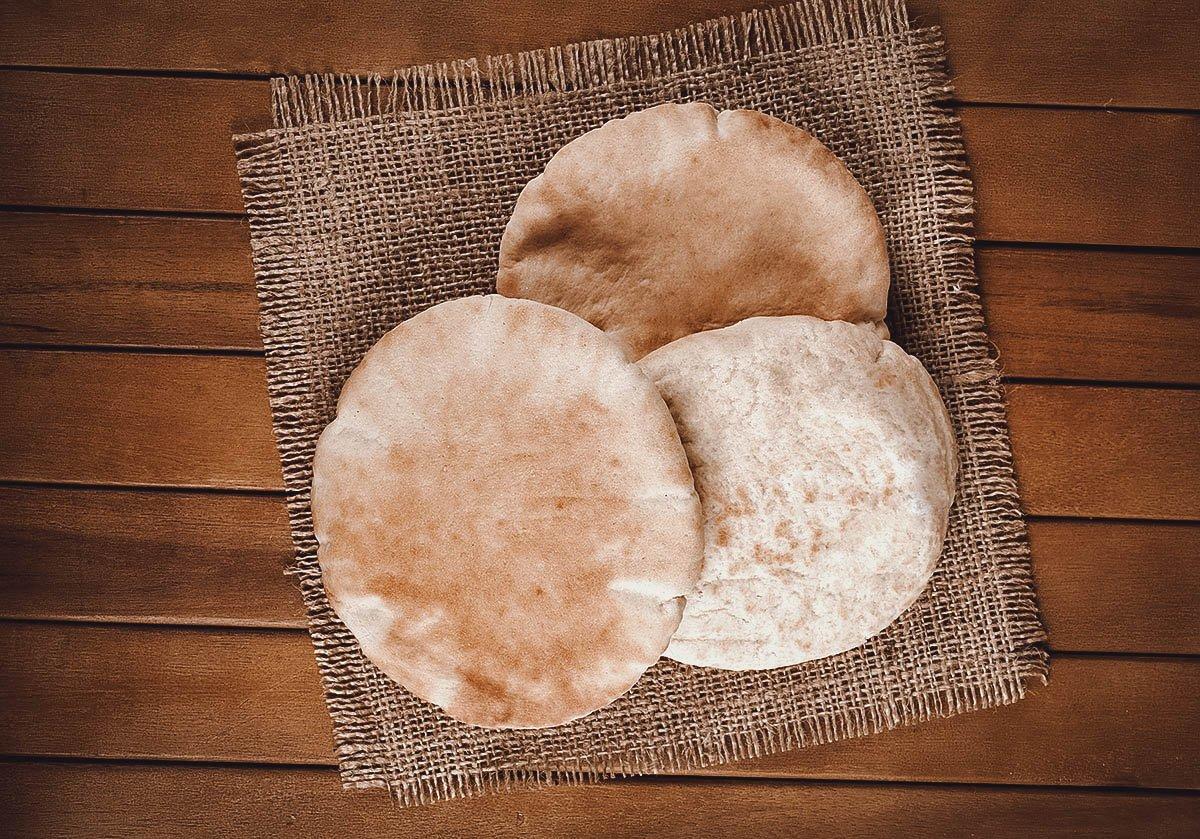 Trio of pita bread