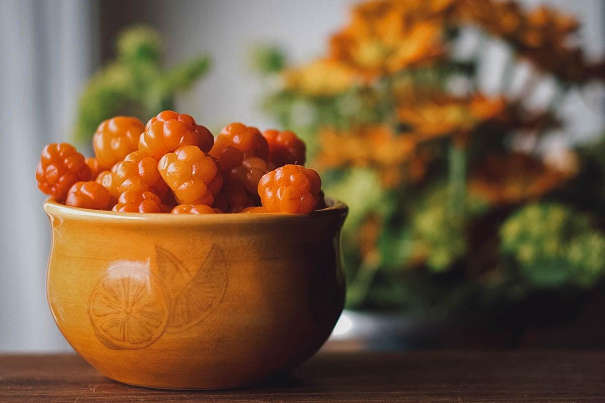 Bowl of cloudberries