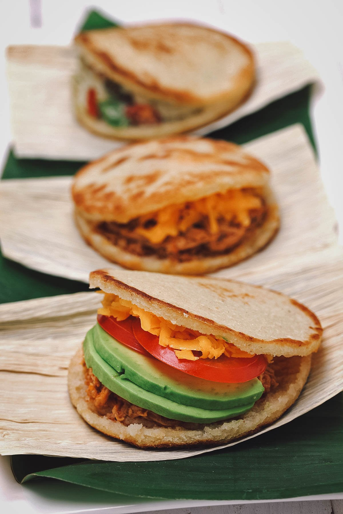 Arepas with fillings
