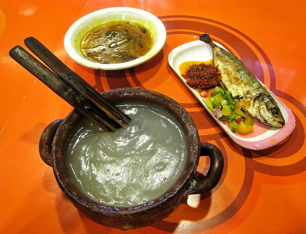 Ambuyat with other dishes
