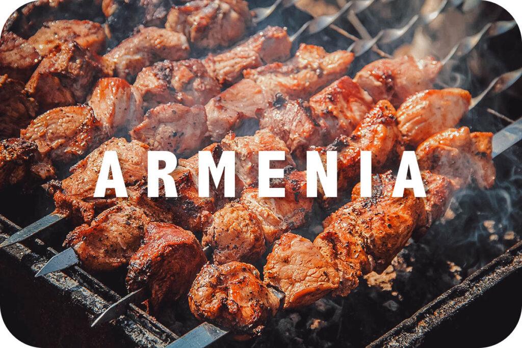 Khorovats grilling