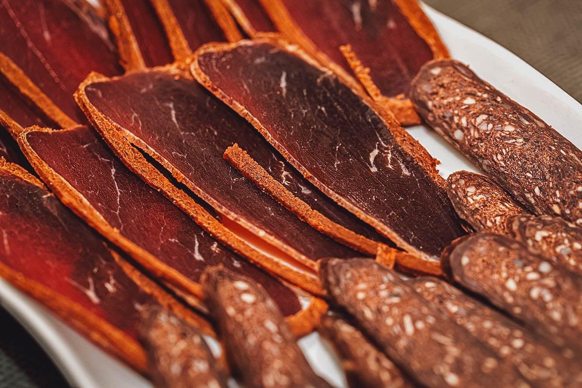 Slices of basturma