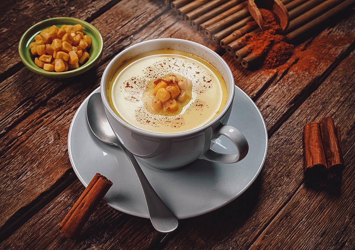 Cup of atol de elote