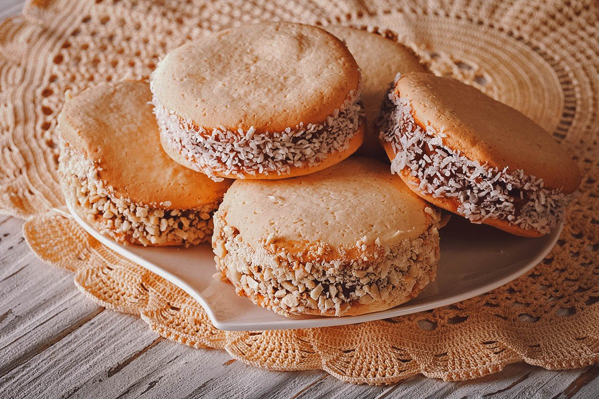 Plate of alfajores, an Argentinian national dish