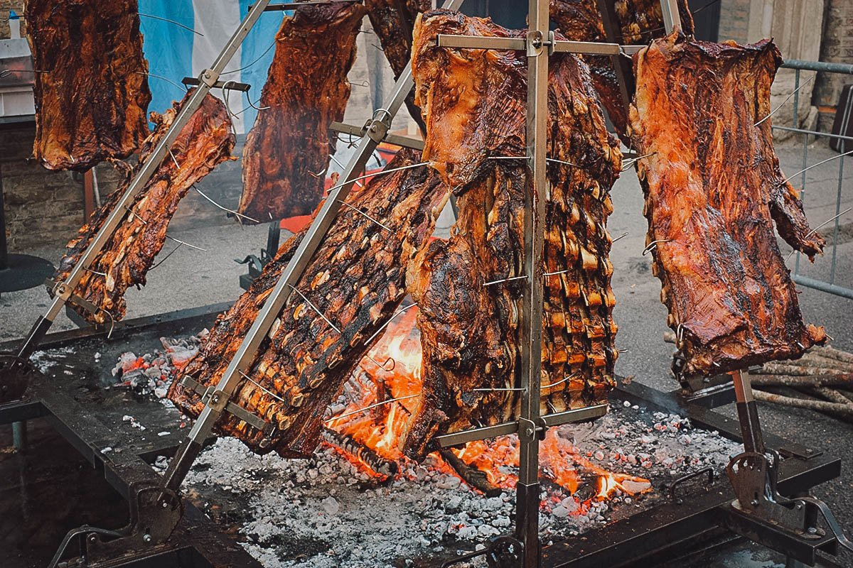 Asado or Argentine barbecue, an Argentinian national dish