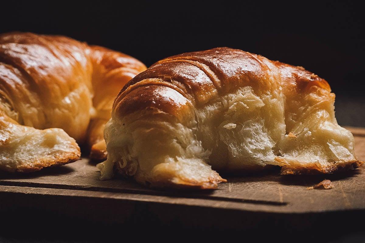 Pair of medialunas, an Argentinian croissant
