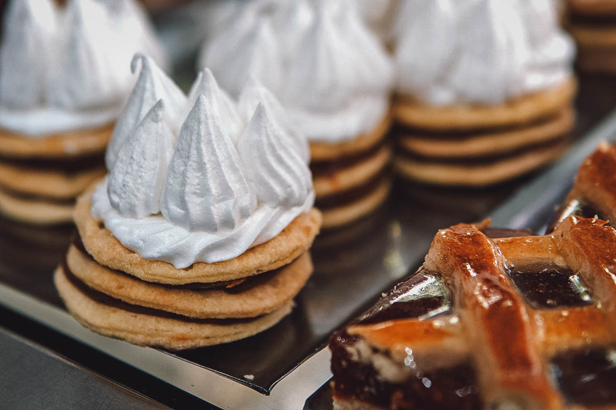 Freshly made rogel, a dulce de leche pastry invented in Buenos Aires