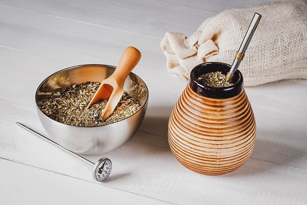 Yerba mate, a popular herbal tea in Argentina