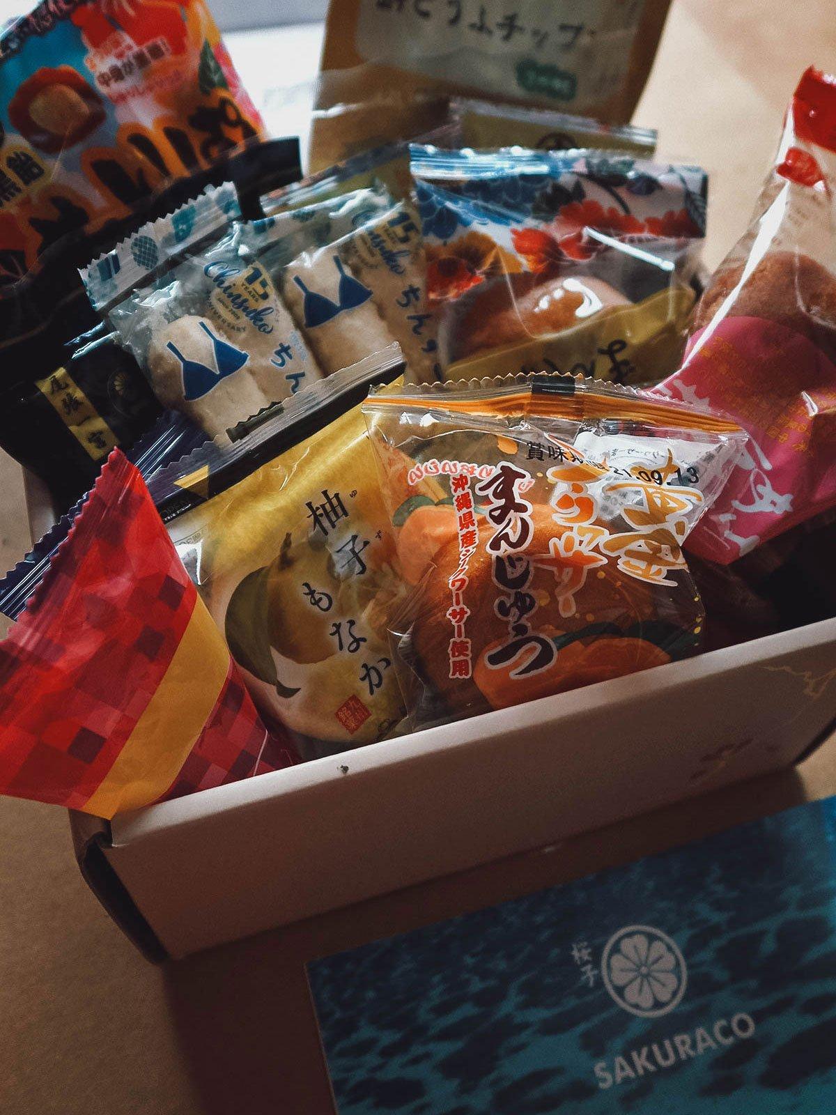 Sakuraco box contents