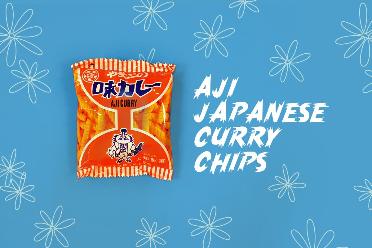 TokyoTreat box contents: Aji Japanese Curry Chips, a crunchy Japanese snack